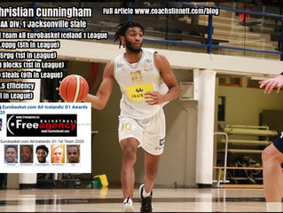 Free Agency Client Christian Cunningham Named to the Iceland 1 First Teams
