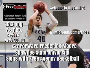 6-7 F Frederick Moore Signs with Free Agency Basketball