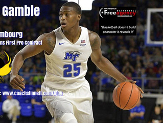 Free Agency Client Karl Gamble Signs First Pro Contract in Luxembourg