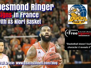 Desmond Ringer Signs in France