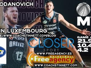 Tom Vodanovich (Closer Sports) Signs with BBC Telestar Hesperange in Luxembourg