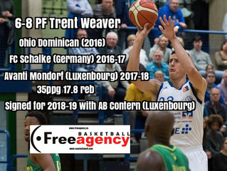 Free Agency Client Trent Weaver Signs in Luxenbourg