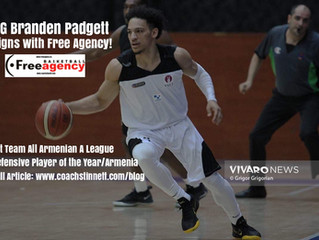 PG Branden Padgett Signs with Free Agency Basketball