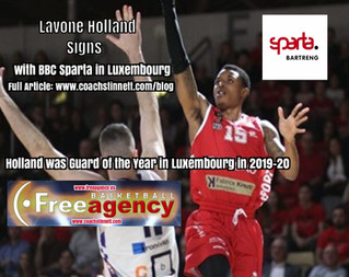 Free Agency Client Lavone Holland Signs with BBC Sparta