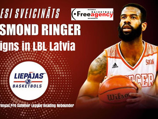 Rookie Desmond Ringer Signs in Top League Latvia (LBL)