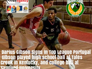 Gibson Signs in LPB (Top League) Portugal