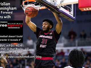 Christian Cunningham (6-7 Forward Jacksonville State) Signs with Free Agency
