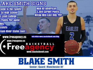 NAIA All American Blake Smith Signs with Free Agency Basketball