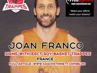 Free Agency Client Joan Franco Signs in France