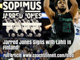 Jarred Jones Signs in Finland