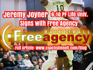 6-10 PF Jeremy Joyner Signs with Free Agency Basketball