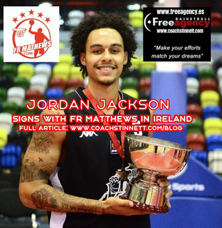 Jordan Jackson Signs with FR Matthews in Ireland