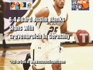 Free Agency Client Justin Blanks Signs in Germany