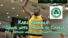 Karl Gamble Signs with Omonia Nicosia in Cyprus
