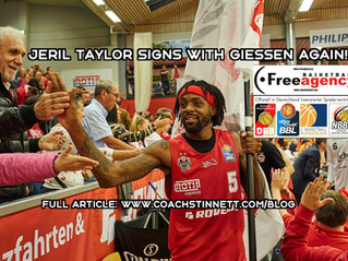 Jeril Taylor Signs with Giessen