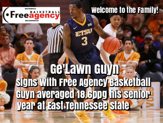 Ge'Lawn Guyn Signs With Free Agency Basketball