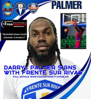 Darryl Palmer Signs with Frente Sur Rivas