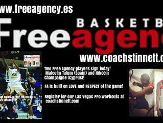 Two Free Agency/SBS Clients Sign Pro Contracts
