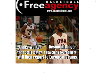 Andre Walker and Desmond Ringer Sign One Month Deals in China