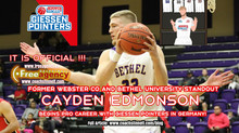 Cayden Edmonson Signs in Germany