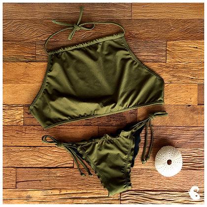 Biquíni cropped Verde Militar