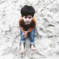 boy in sand lonley- jpg photoshop cop2y
