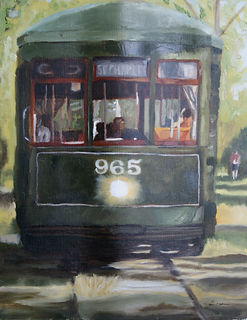 Sarver.Oil.Linen.Riding the Streetcar.jp