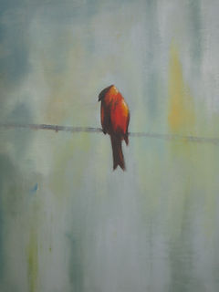 Sarver.Oil.Board.Bird on a Wire.jpg