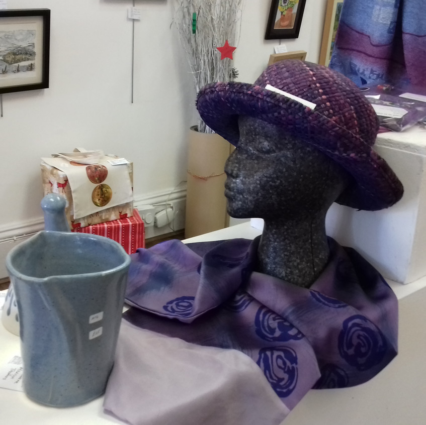 Hat and ceramics