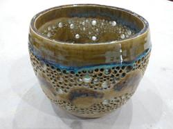 Pierced bowl with thin Sea Foam