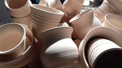 Bowls ready for Raku