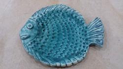 Fish platter in Franks Blue Satin Matt