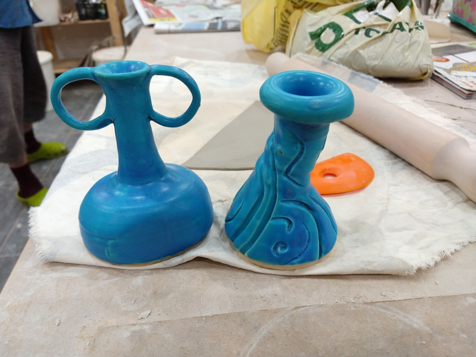 Turquoise vessels
