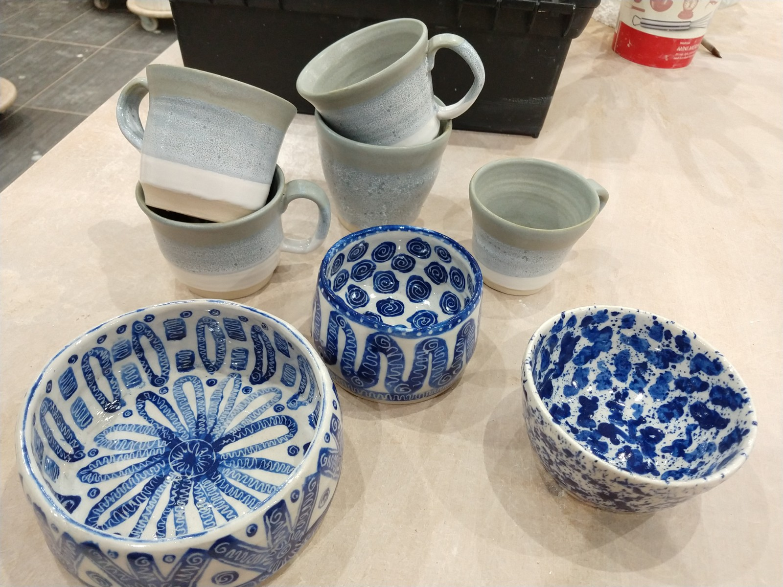 A few pots from the kiln