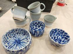 A few pots from the kiln