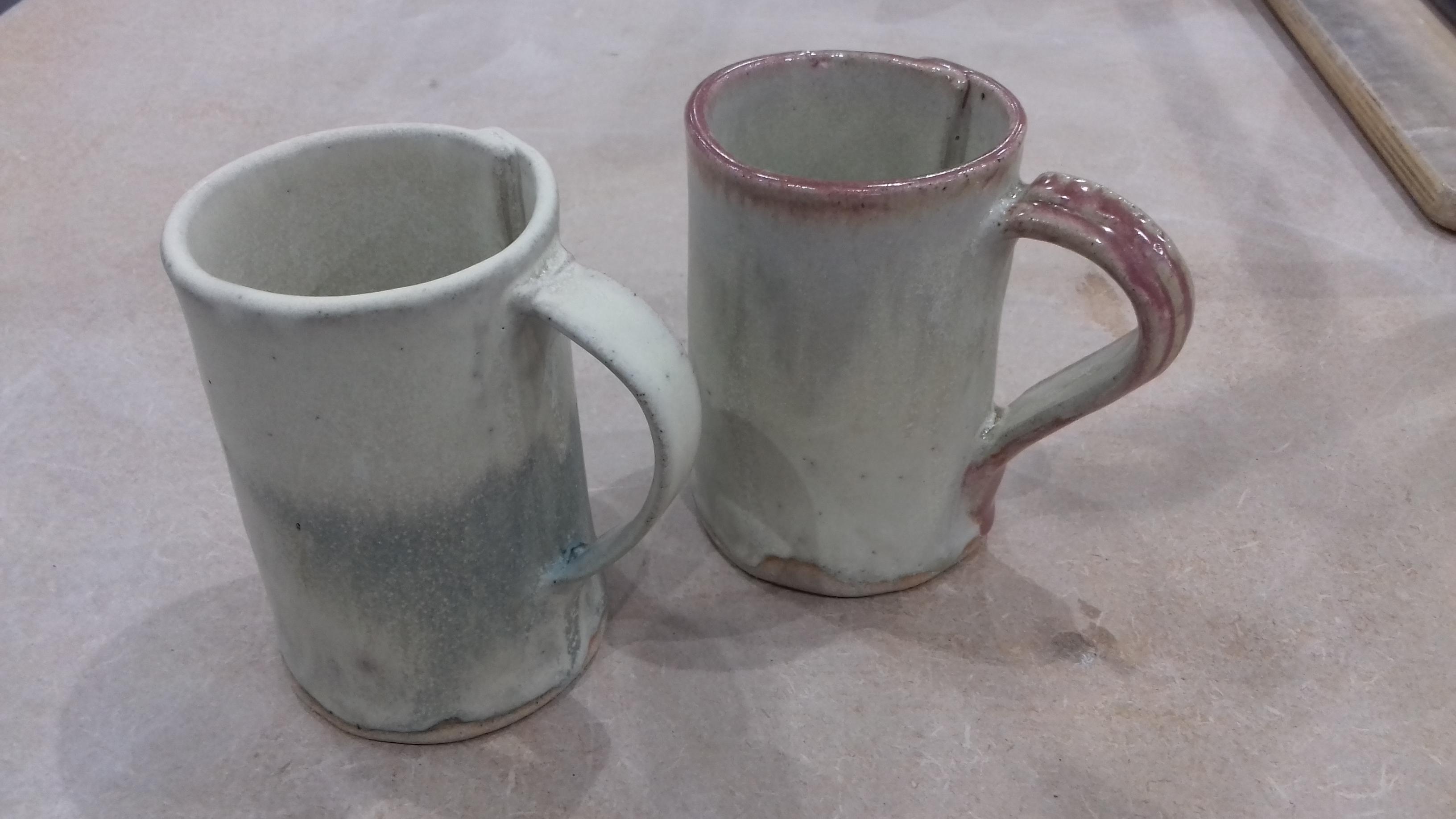 Slab built mugs