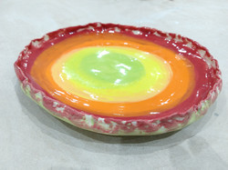 Underglaze colours with clear over