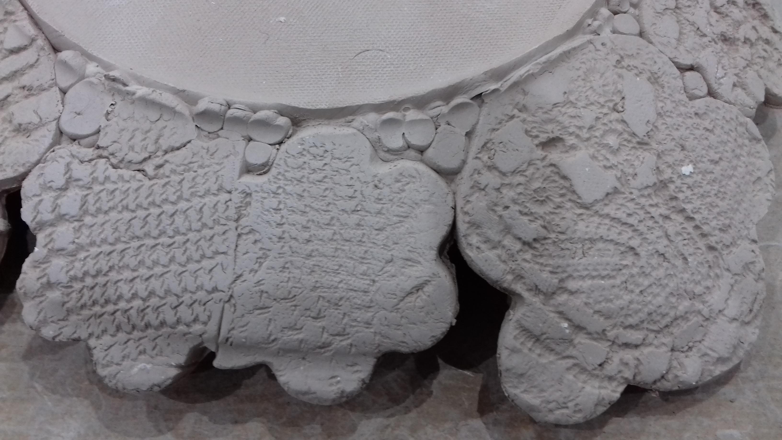 Dry clay pieces