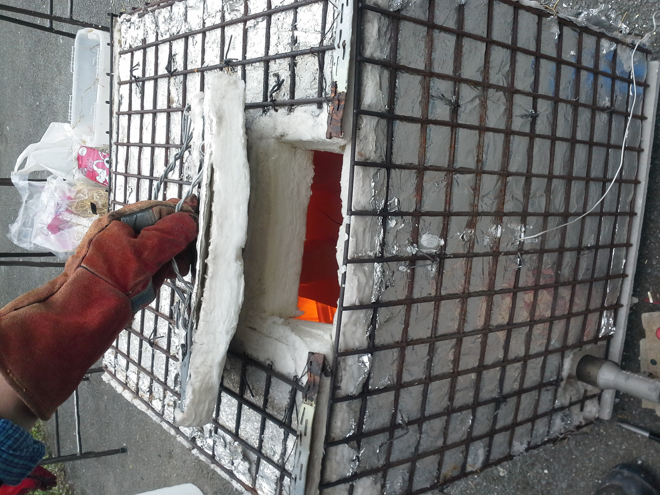 Checking the kiln