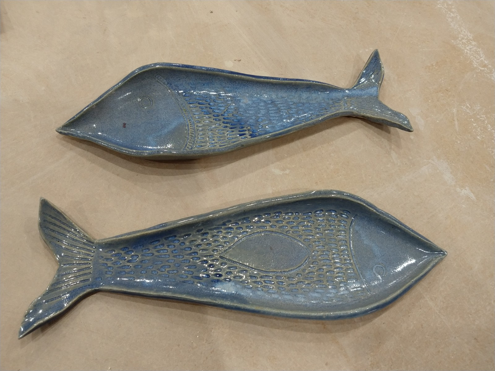 Two fish platters