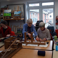 Weaving at ArtsLoft....