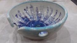 Yarn bowl in blue