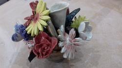 Flowers with underglaze