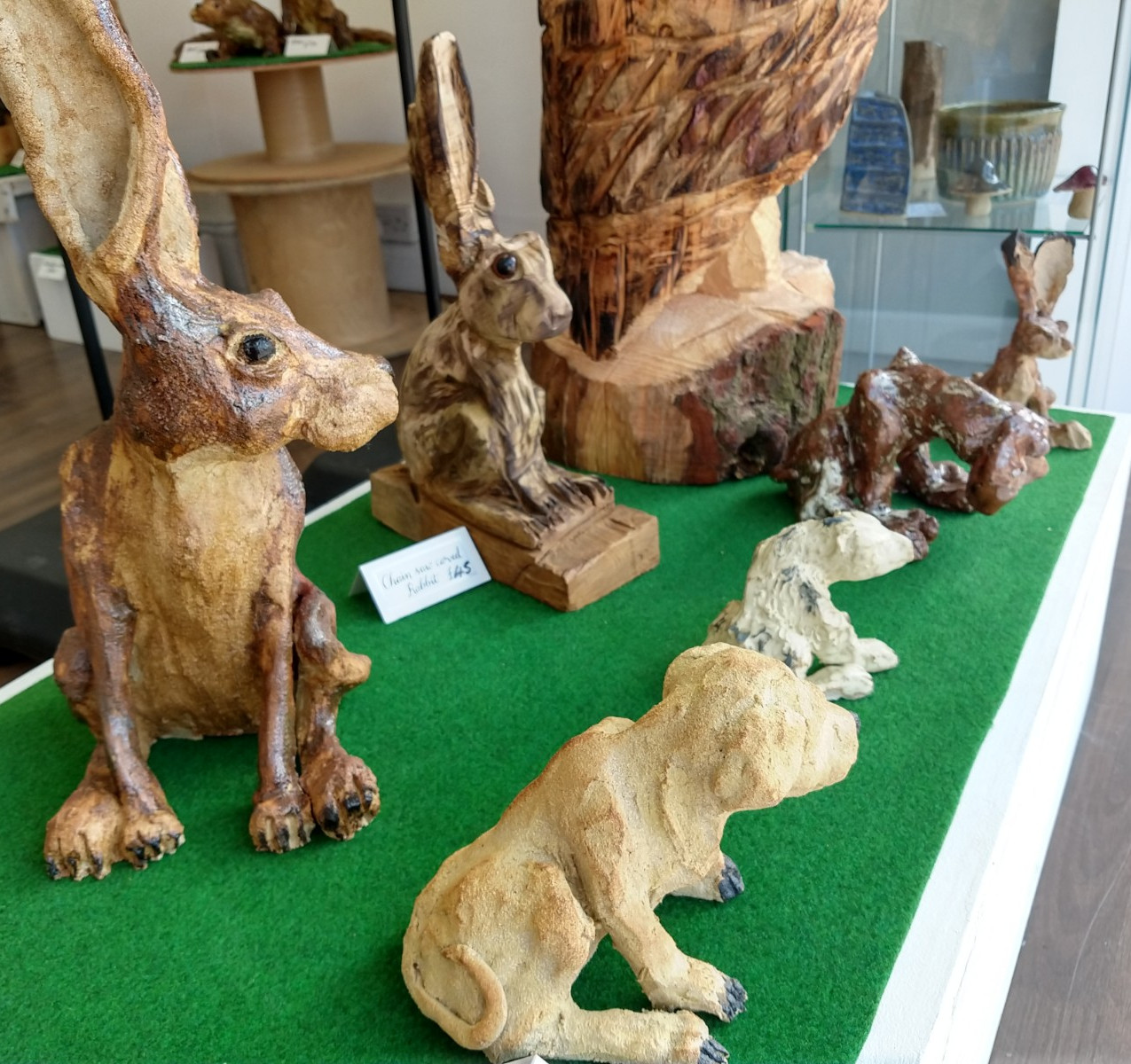 Close up of hares
