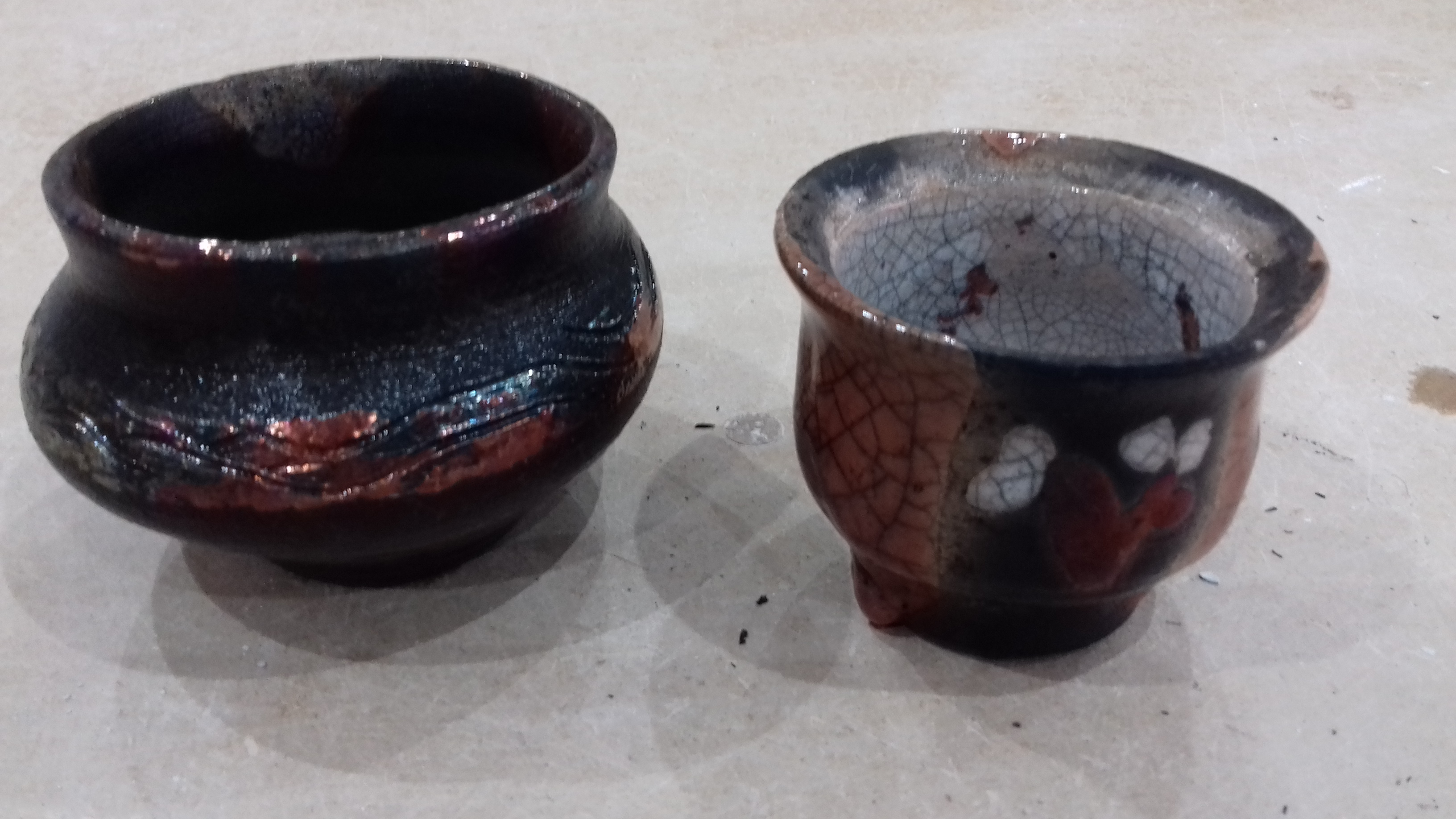 Finished pots