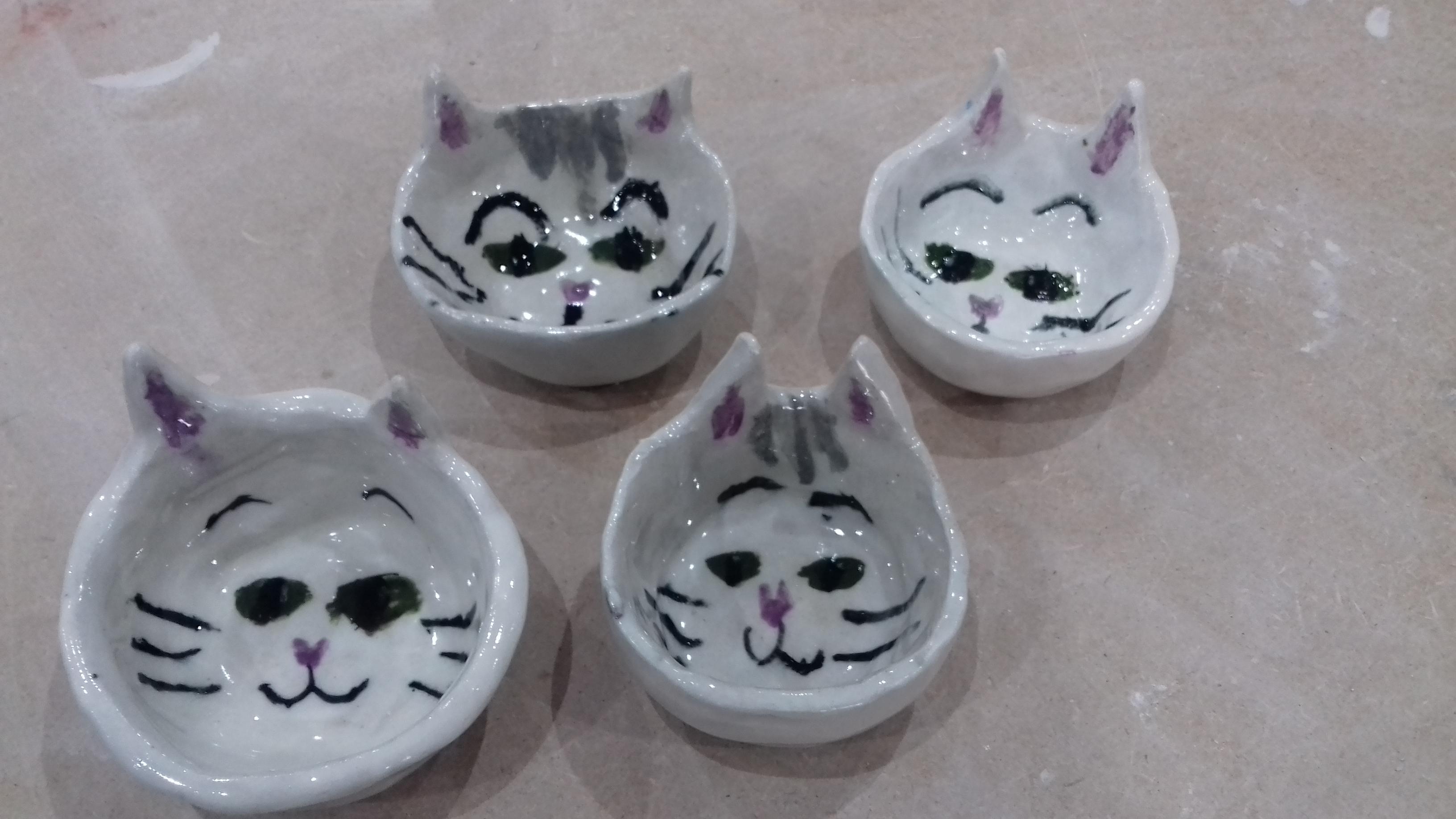 Cat bowls by Esme