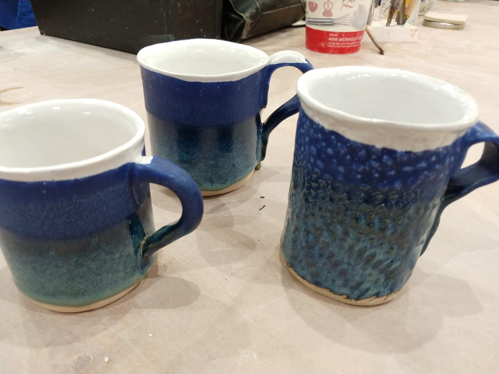 Hand built mugs