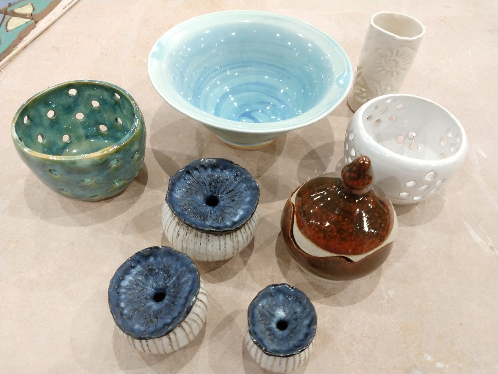 Smaller pots from the kiln