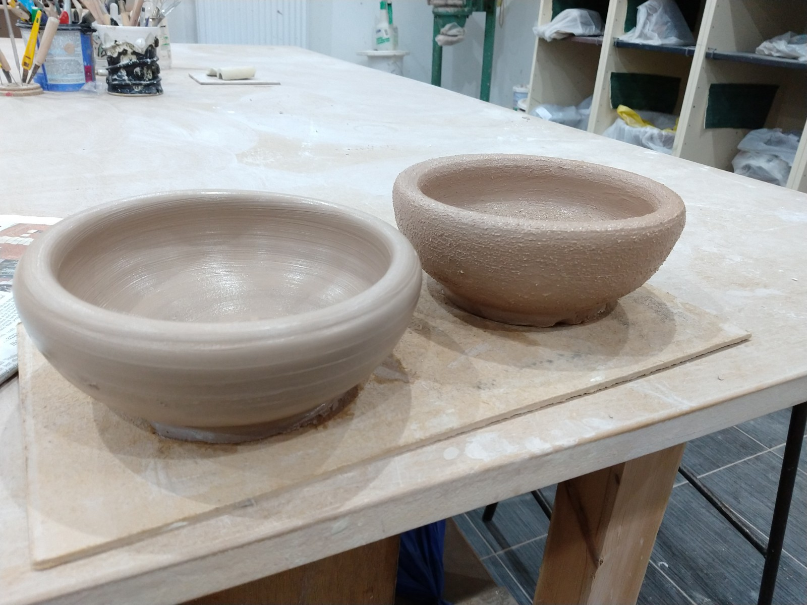 Prototype bowls for Gaza cooking