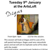 First life drawing class at ArtsLoft for 2018.  Contact us to book a place.